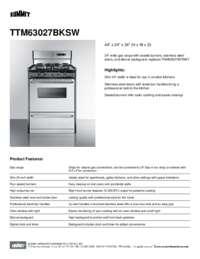 TTM63027BKSW Spec Sheet