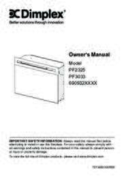 PF2325, PF3033 Owner's Manual