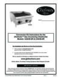 C24CB SR and C36CB SR Chefmate Gas Charbroiler Conversion Kit Instructions