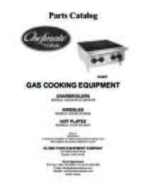 Chefmate Gas Charbroiler C24CB SR and C36CB SR Parts Catalog