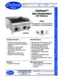 Gas Charbroilers Spec Sheet