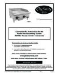 C24GG and C36GG Chefmate Gas Griddle Conversion Kit Instructions