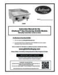 C24GG and C36GG Chefmate Gas Griddle Owner's Manual