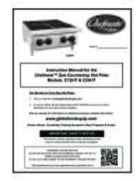 C12HT and C24HTChefmate Gas Hot Plate Owner's Manual