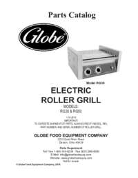 RG30 and RG50 Roller Grill Parts Catalog