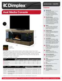 GDS25GD 1583RS, GDS25LD 1583RS Axel Media Console Sell Sheet