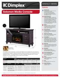 GDS25GD 1594WG, GDS25LD 1594WG Solomon Media Console Sell Sheet