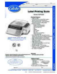 Label Printing Scale Spec Sheet