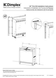 DF203A ST 20 Inches Electric Firebox Trim Installation Instructions