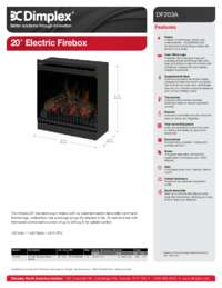 DF203A ST 20 Inches Electric Firebox Sell Sheet