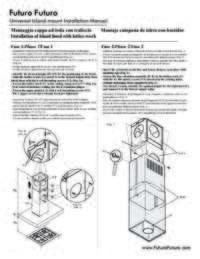 Futuro Futuro Universal Island Range Hood Installation Manual
