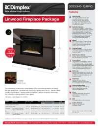 GDS33HG 1310RG, GDS33HL 1310RG Linwood Electric Fireplace Sell Sheet