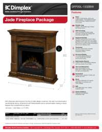 DFP20L 1332BW Jade Electric Fireplace Sell Sheet