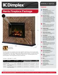 GDS33G4 1557CS, GDS33L4 1557CS Harris Mantel Sell Sheet