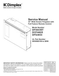 DF3033ST, DCF40GS, DFG3033 Plug In 33 Inches Widescreen Firebox Service Manual