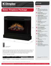 Slater Electric Fireplace Sell Sheet