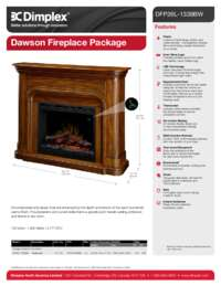 Dawson DFP26L 1339BW Electric Fireplace Sell Sheet