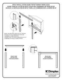BF Decorative Trim Kit 33,39,45 Built in Firebox Installation Guide (EN,FR,SP)
