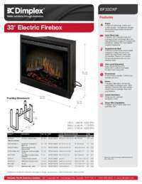 BF33DXP 33 Inches Built in Electric Firebox Sell Sheet