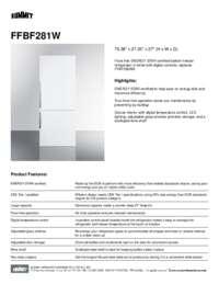 FFBF281W Spec Sheet