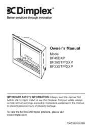 BF45DXP, BF39STP, BF39DXP, BF33STP, BF33DXP Built in Firebox Owner's Manual