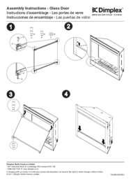 BF33STP, BF33DXP, BF39STP, BF39DXP, BF45DXP Firebox Door Installation Instructions