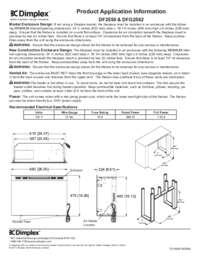 DF2426, DF2550, DFG2562, DFG253A Product application information