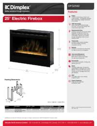DFG2562 25 Inches Self trimming Electric Firebox Sell Sheet