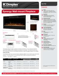 Synergy BLF50 Linear 50 Inches Built in Firebox Sell Sheet