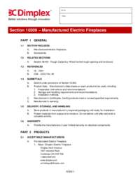 Dimplex 3 part Fireplace Specifications   BLF50