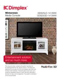 GDS25L 1413WW Winterstein Media Console Sell Sheet