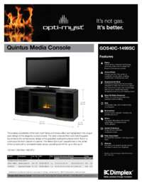 GOS40C 1499SC Quintus Opti myst Media Console Sell Sheet