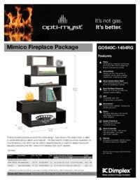 GOS40C 1454RG Mimico Opti myst Mantel Sell Sheet