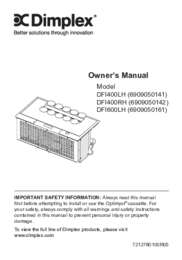 DFI400RH, DFI400LH, DFI600LH Optimyst Cassette Owner's Manual
