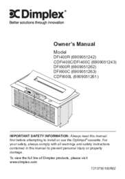 DFI400R, DFI400C, DFI600L, DFI600C Optimyst Cassette Owner's Manual