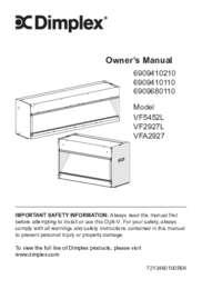 VF5452L, VF2927L, VFA2927 Owner's Manual