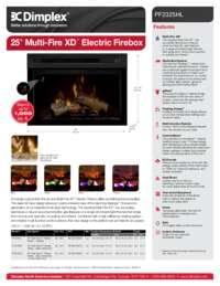 PF2325HG , PF2325HL , PF2325CG   25 Inches Multi Fire XD Sell Sheet