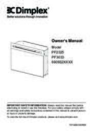 PF2325, PF3033 Owner's Manual