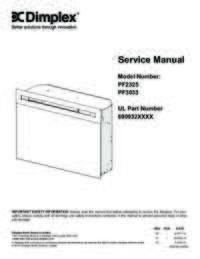 PF2325, PF3033 Service Manual