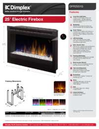 DFR2551G   25 Inches Electric Firebox Sell Sheet