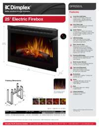 DFR2551L   25 Inches Electric Firebox Sell Sheet