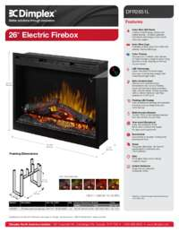 DFR2651L   26 Inches Electric Firebox Sell Sheet