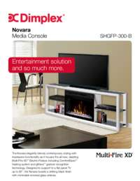 SHGFP 300 W, SAPHL 300 W, SAPHL 300 B, SHGFP 300 B Novara Media Console Sell Sheet