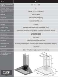 KF36 Spec Sheet