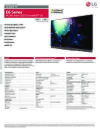 E6 Series Spec Sheet