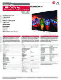 UH9500 Series Specifications Sheet
