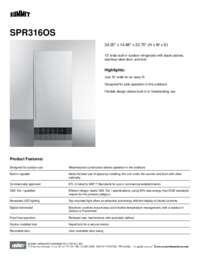 SPR316OS Spec Sheet