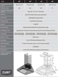 687 Spec Sheet
