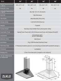 KL2 Spec Sheet