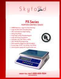 PX Series Spec Sheet